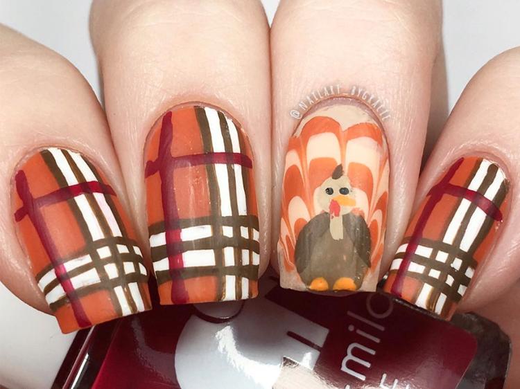 Thanksgiving Nail Art Designs