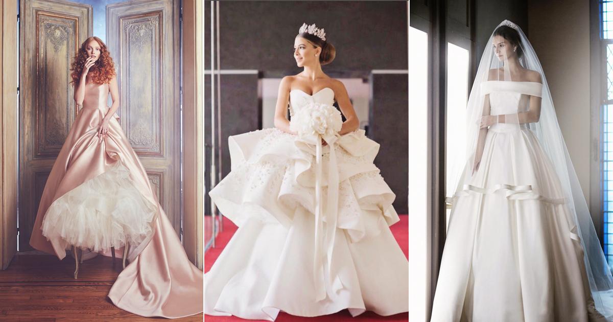 Sleek Elegant Liquid Satin Wedding Dresses